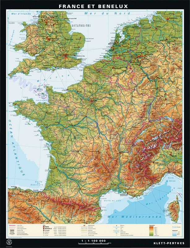 franciaország domborzati térkép Európai országok domborzati térképe, térképek, fali tablók   Meló  franciaország domborzati térkép