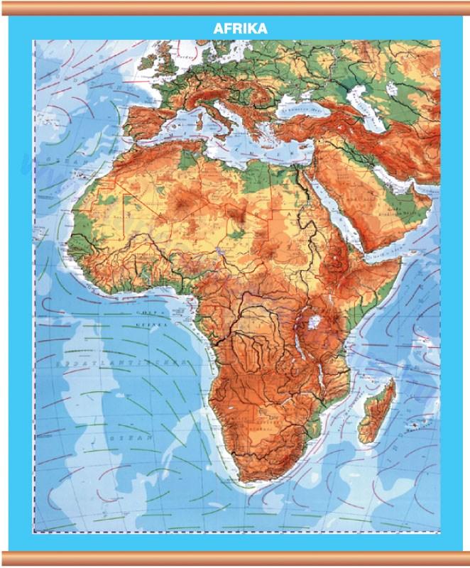 afrika domborzati térkép Afrika domborzata, hátoldala politikai vaktérkép DUO afrika  afrika domborzati térkép