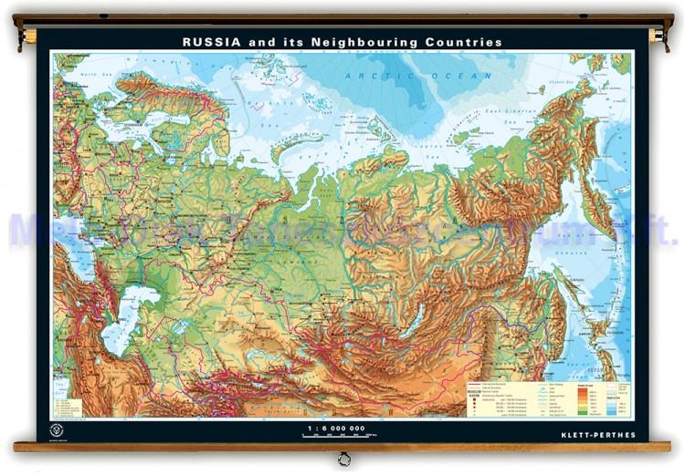 oroszország domborzati térkép Oroszország és környező államai, domborzati térkép   hátoldala  oroszország domborzati térkép