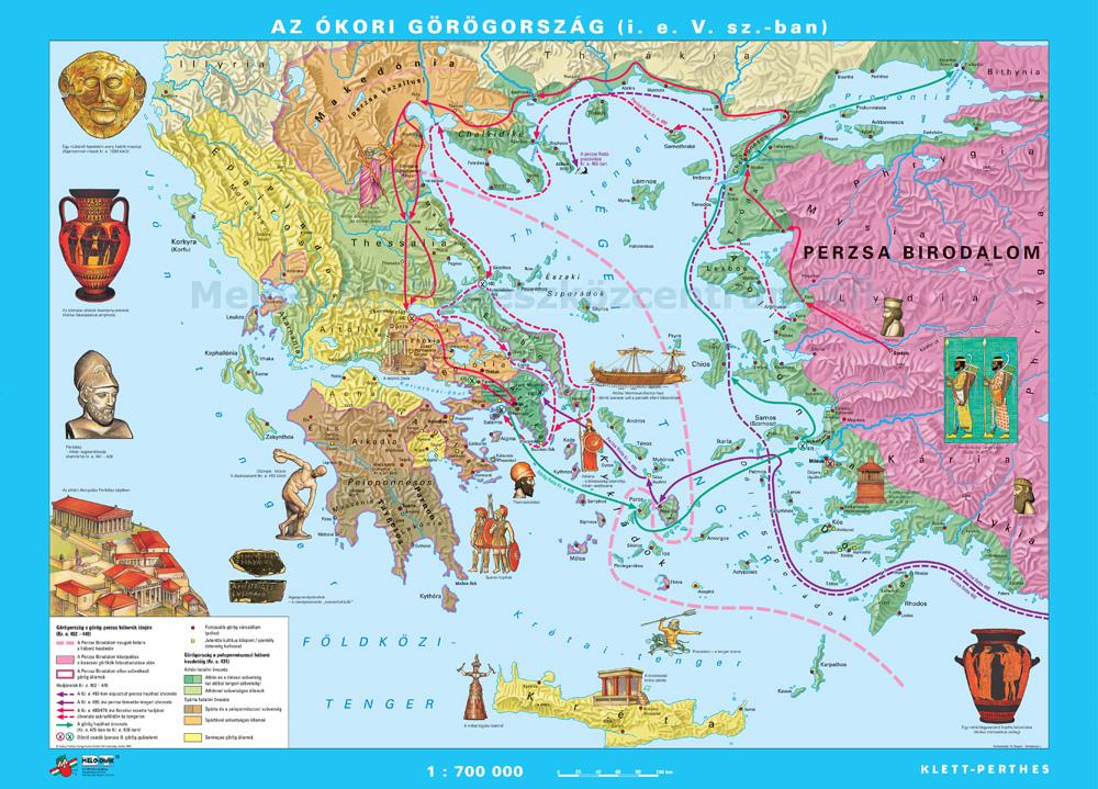 ókori görögország térkép Az ókori Görögország (i. e. 8 4. sz.) görögország   Meló Diák  ókori görögország térkép